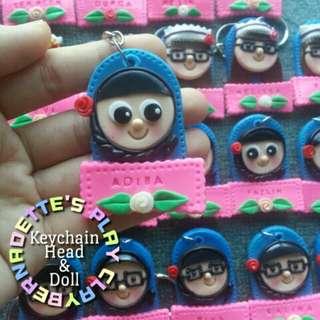 Doll & Name Custom Keychain