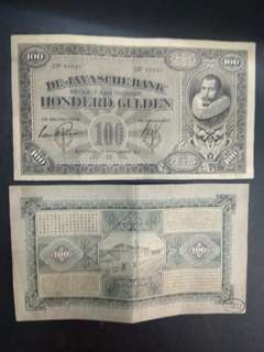 Netherlands Indies 100 Gulden 1920s issue