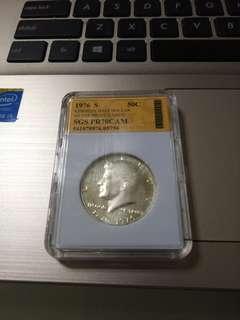 1976年美國半元銀幣