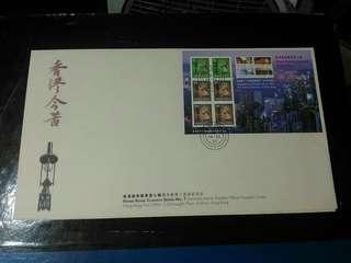 1997年 香港今昔 經典小型張 7,8,9號 首日封 共 3個