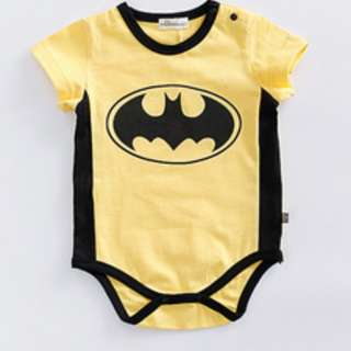 brand new with tag, toddler children kids newborn 3-6mth, 12-18mths batman in yellow base rompers kids
