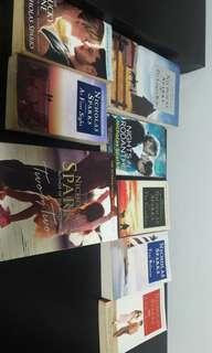 8 Books by Nicholas Sparks