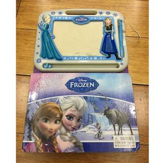 disney frozen book and magnetic drawing board
