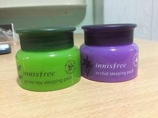 Innisfree Green Tea / Orchid Sleeping Packs