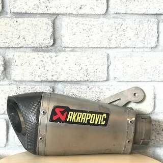 ORIGINAL Akrapovic Exhaust (no pipe)