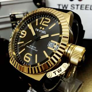 NEGOTIABLE-Brand New TW Steel TW565 Gold-Black Watch