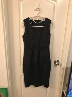 黑色連身裙OL返工
