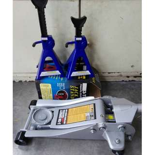 Low Profile Heavy Duty 3 Tonne Floor Jack with 2pcs Jack Stand
