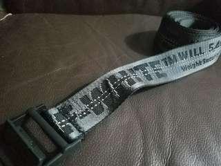 Off -white black belt