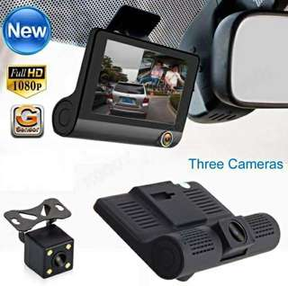 THREE Camera Dash Cam HD 1080