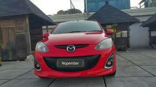 Mazda2 R 1.5 AT HB 2011 merah metalik