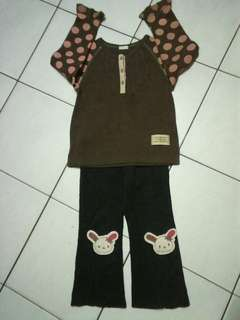 Girl Tops & Jeans Set