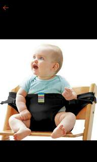 Baby portable chair safety belt