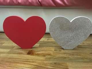 Wedding Deco heart shape glitter