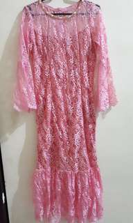 Pink Brokat Dress
