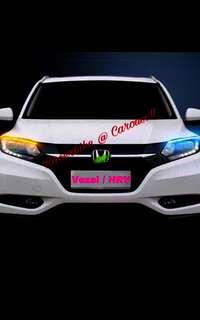 Honda Vezel or HRV White LED eyebrows with signal