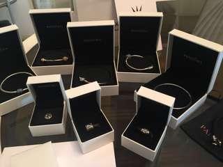 Pandora Bangles, Bracelets and Charms