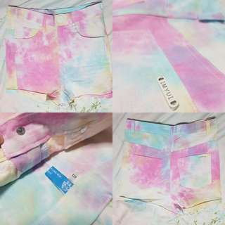 Pastel Rainbow High waist shorts