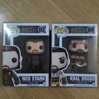 Ned Stark and Khal Drogo Game of Thrones Funko Pop!