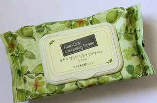 Cleansing tissue Face shop
