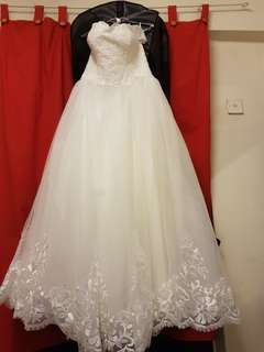 White wedding gown to let go