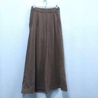 (P013) Fleece Wide Leg Pants