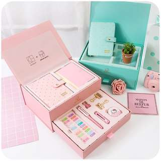 Kinbor Hello Kitty Planner + Stationeries Set (Tiffany Blue)