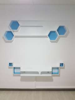 wall shelf and TV console