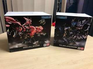 [In Stock] Bandai Formania EX Hi-v Nu Gundam + Sazabi (sell as a set)