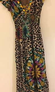 Desigual Maxi leopard print dress