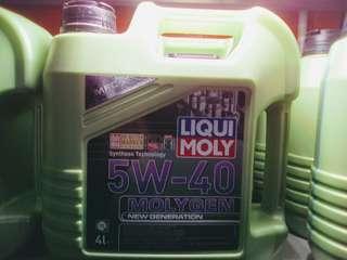 Car Engine Oil LIQUI MOLY 5W-40 4L                                                   要买就买有品质保证的货品👍                                                     Get quality goods 👌                                                                    Cash and Carry
