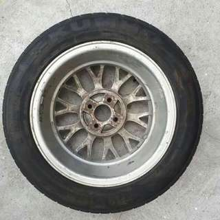 Spare tire with mags, Reserve tire with mags, reserve mags with tire 1pc