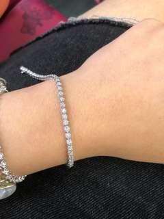 14K 1ct diamond bracelet
