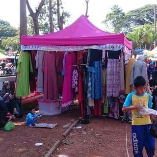 Menjual Tenda bongkar pasang berbagai ukuran