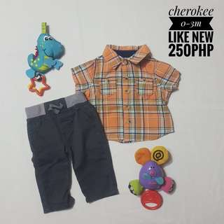 Shirt and pants for baby boy