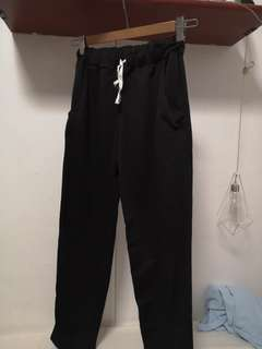 Black High Waisted Joggers