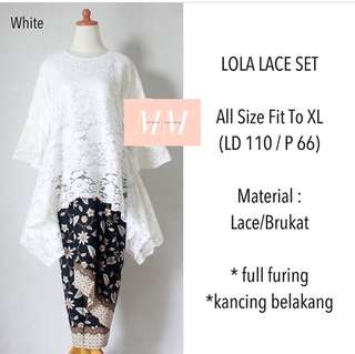Batik kebaya lace set