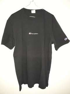 Champion Tees Script Embroiderry Black