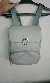 Trendy gray mini backpack