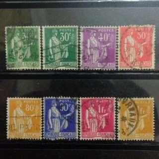 [lapyip1230] 法國 1928年 播種女神 舊票全份 VFU
