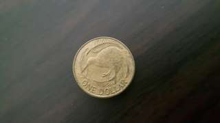 Coin new zealand 1 dollar