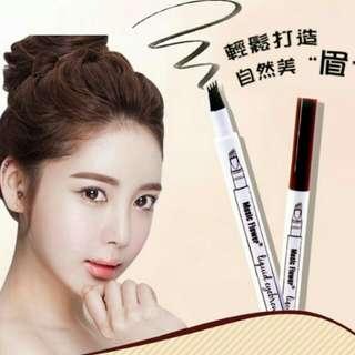 🚚 台南-Music Flower 沁新新款持久不脫妝眉筆 極細微雕紋眉 防水防油