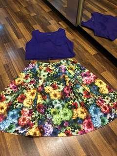stelan dress + top croo purple
