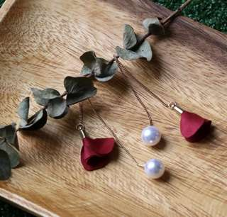 Sadie Petal and Pearl Earring