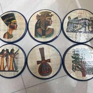 埃及蘆葦草織布杯墊