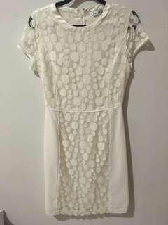 Formal White Lace Dress