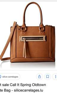 NEW BROWN LEATHER PURSE CALL IT SPRING