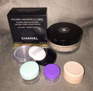 chanel universelle libre clair 20 translucent 1 powder share jar