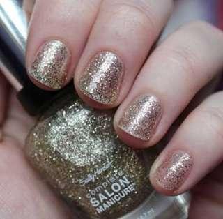 Auth sally hansen golden rule nail polish