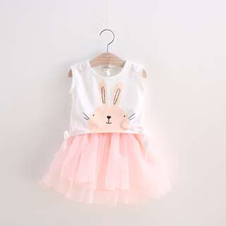 Rabbit 2 Piece Set (Top&Skirt)